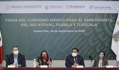 Firma gobierno de México Convenio con Puebla y Tlaxcala para el saneamiento del río Atoyac