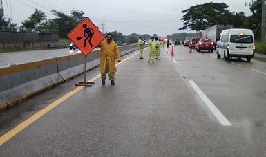 Lista la SCT para atender posibles afectaciones en carreteras de Tabasco y Chiapas