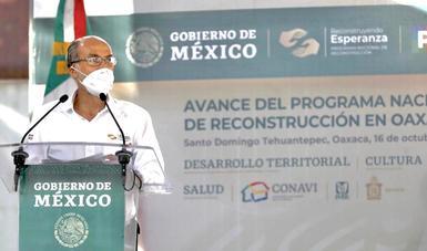 Entre 2019 y 2020, en Oaxaca se han invertido más de 8 mil mdp en trabajos de reconstrucción: Sedatu
