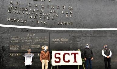 Rinde homenaje SCT a quienes construyen y mantienen la red carretera del país