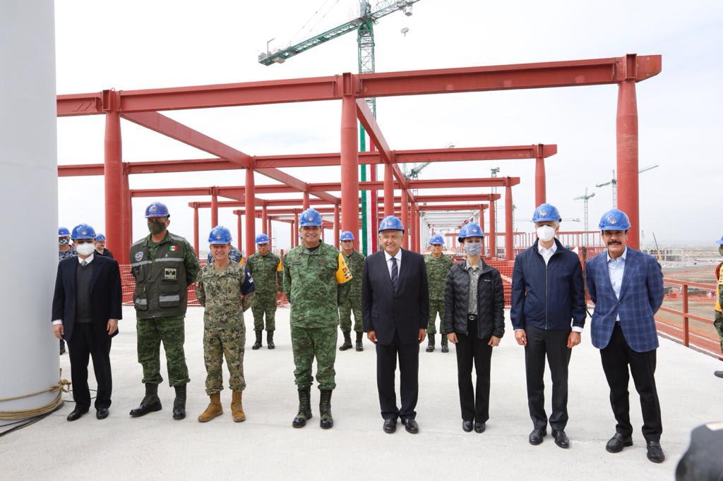 Acompaña Jefa de Gobierno al Presidente de México en supervisión de obras en Aeropuerto Internacional