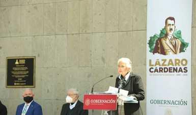 Ideales de Lázaro Cárdenas del Río inspiran a quienes trabajamos en la Cuarta Transformación, enfatiza secretaria Olga Sánchez Cordero