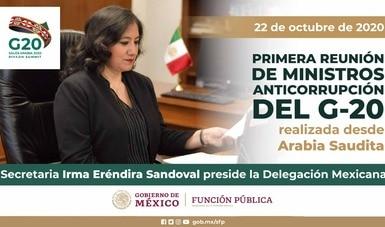 Secretaria Sandoval Ballesteros preside delegación mexicana en cumbre de autoridades anticorrupción del G20