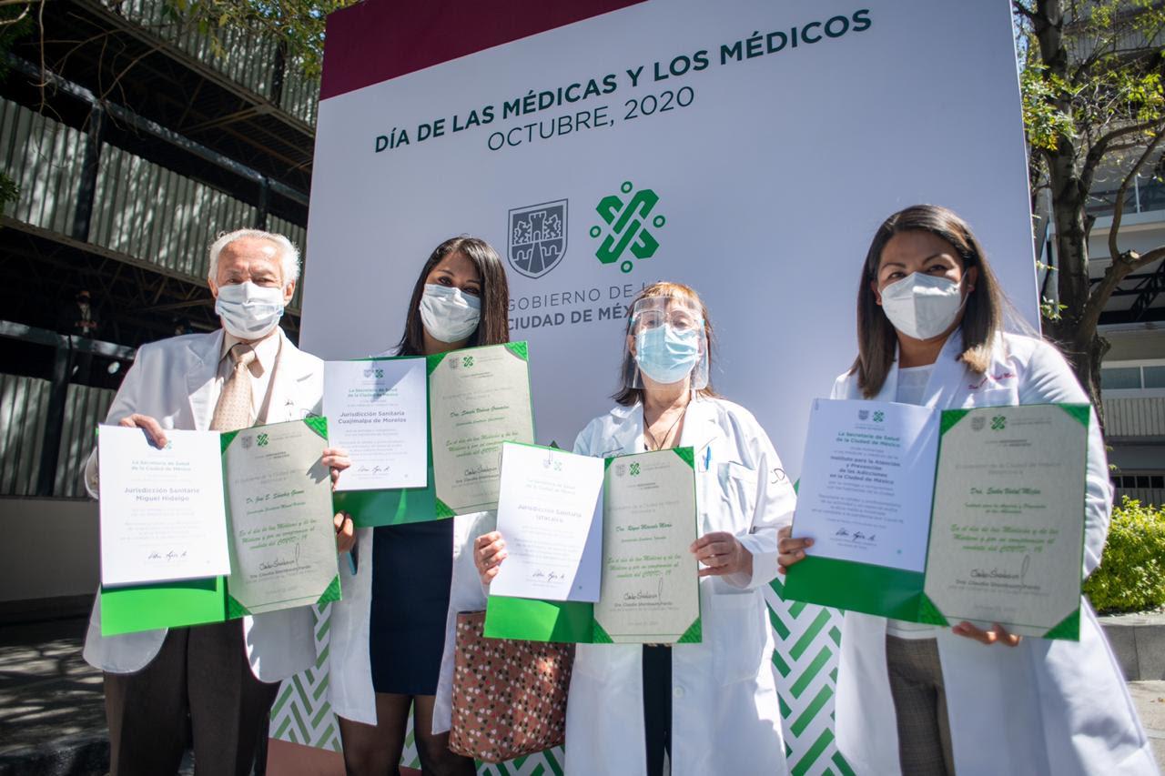 Reconoce Gobierno capitalino a 9 mil 66 médicas y médicos de la SEDESA