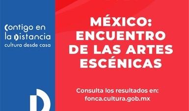 El Sistema de apoyos a la creación y a proyectos culturales (Fonca) anuncia resultados 2020 de México: Encuentro de las Artes Escénicas