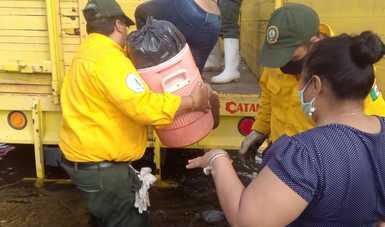 Se suma sector ambiental a la atención de población afectada por inundaciones en Tabasco y Chiapas