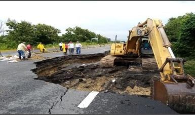 Trabaja SCT para reparar la infraestructura carretera de Veracruz, Chiapas y Tabasco afectada por las intensas lluvias
