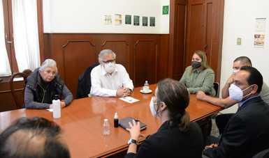 Sostienen secretaria Olga Sánchez Cordero y subsecretario Alejandro Encinas Rodríguez reunión con familiares de víctimas de San Luis Potosí