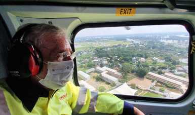 Supervisó el Secretario de Comunicaciones y Transportes infraestructura carretera dañada por las lluvias en Tabasco