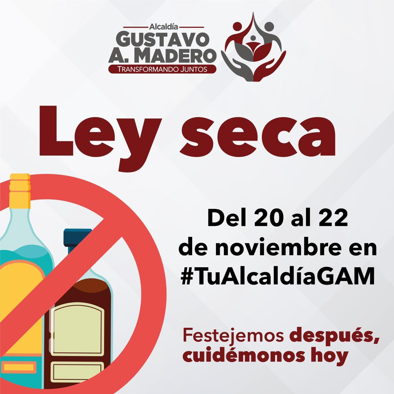 Aplicará ley seca la alcaldía Gustavo A. Madero