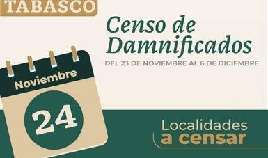 Avanza en Tabasco censo de viviendas afectadas por inundaciones