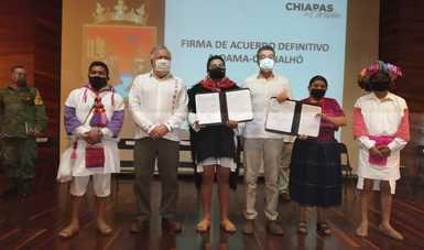 Día histórico para Aldama y Chenalhó, comunidades que merecen vivir en paz en mejores condiciones: Alejandro Encinas
