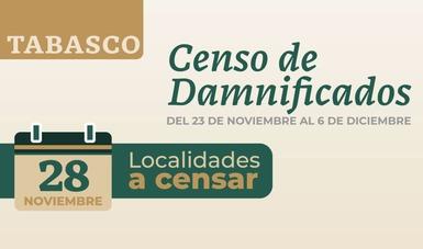 Continúa este sábado en Tabasco censo de viviendas afectadas; esta vez en 146 localidades