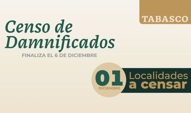 Continúa este martes en 85 localidades de Tabasco censo de viviendas afectadas por inundaciones