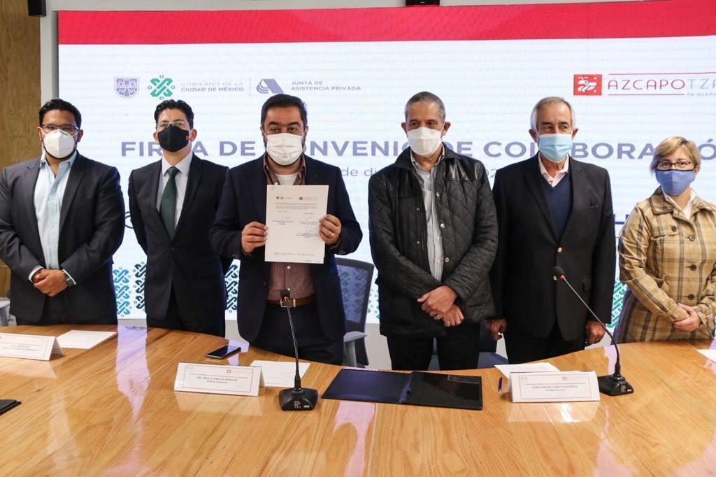 Firma la Junta de Asistencia Privada de la Ciudad de México y la alcaldía Azcapotzalco convenio de colaboración en favor de los grupos de atención prioritaria