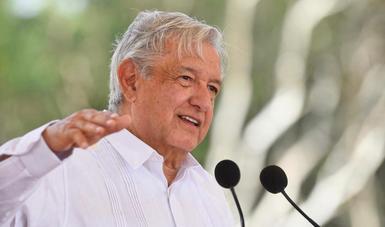 En Halachó, presidente López Obrador supervisa tramo 3 del Tren Maya
