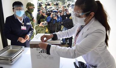 Simulacro Plan de Vacunación contra COVID-19 en Ciudad de México y Coahuila