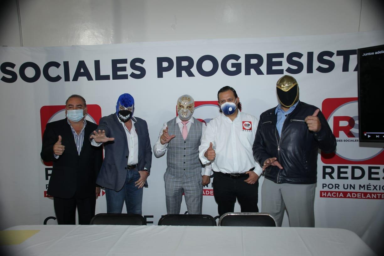 Blue Demond, Carístico y Tinieblas inauguran nueva sede estatal de RSP
