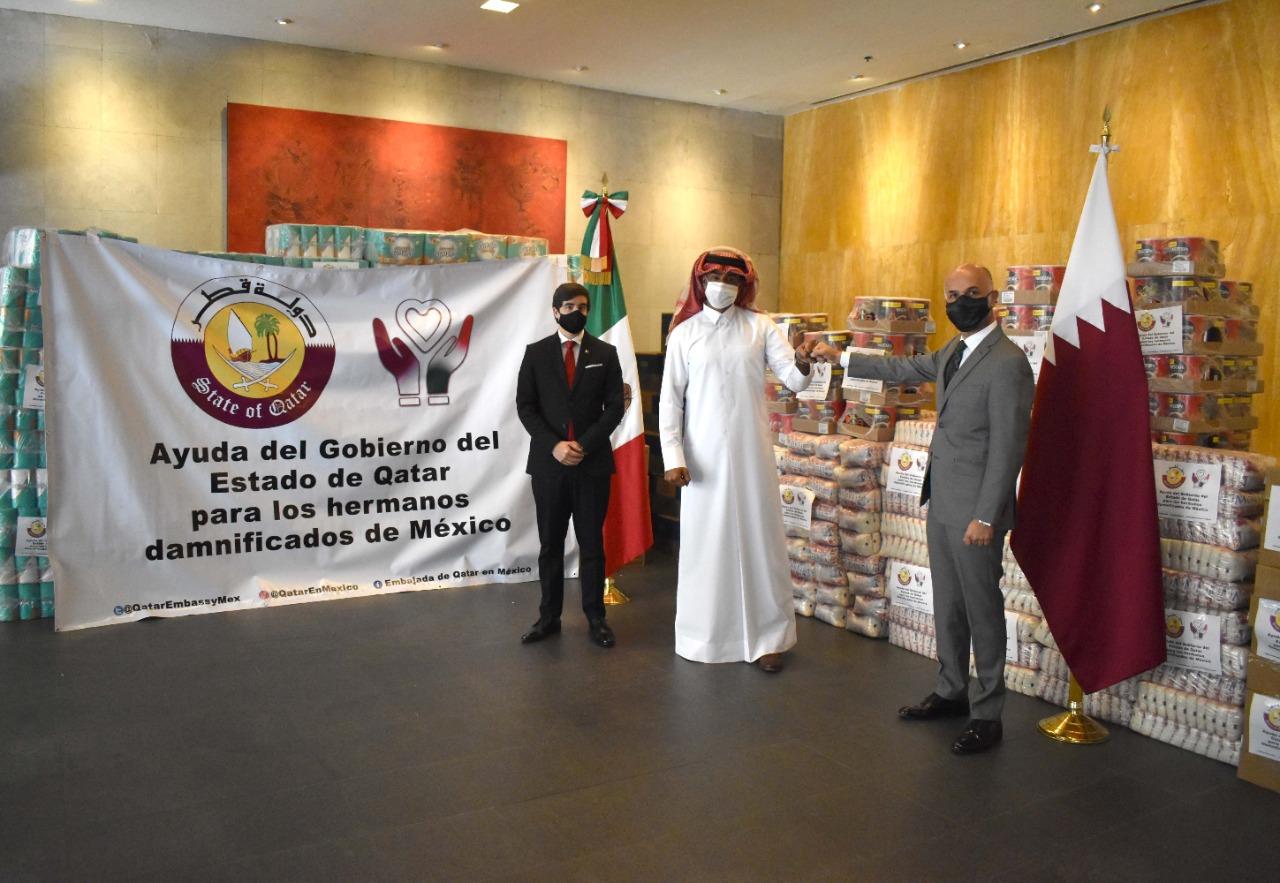 Qatar apoya a damnificados en México
