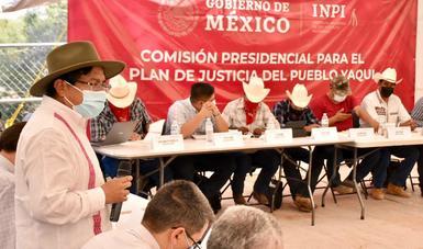 Gobierno federal y pueblo yaqui acuerdan inversión para desarrollo integral de comunidades