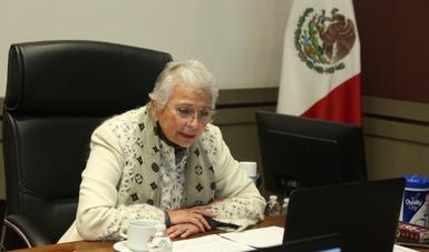 Es momento de una nueva Ley General de Población que permita expedir la cédula única de identidad digital: secretaria Olga Sánchez Cordero