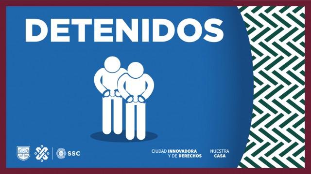 En Venustiano Carranza, policías de la SSC detuvieron a dos personas en posesión de más de 100 dosis de aparente droga y un arma de fuego corta.