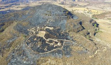 Comunicado incendio en el Cerro del Teúl, Zacatecas