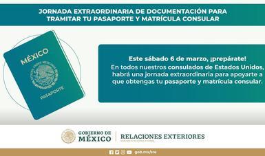 Los Consulados de México en Estados Unidos realizarán una jornada sabatina extraordinaria de documentación este 6 de marzo
