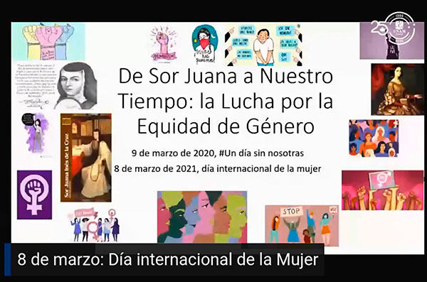 La voz de Sor Juana conecta con las mujeres en su lucha por la igualdad