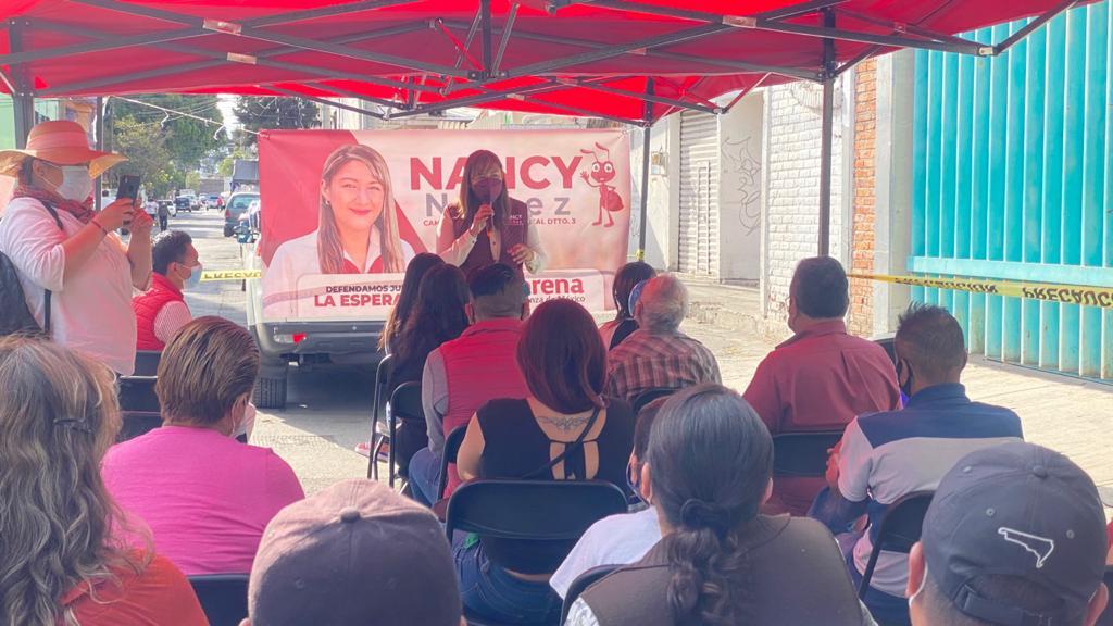 Escucharé las propuestas de los chintololos para conformar un proyecto común que solucione los problemas de Azcapotzalco: Nancy Núñez