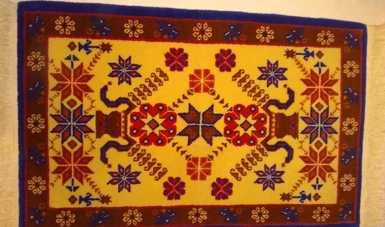 Los tapetes artesanales elaborados con la técnica de nudos, una joya artesanal de Temoaya, Estado de México