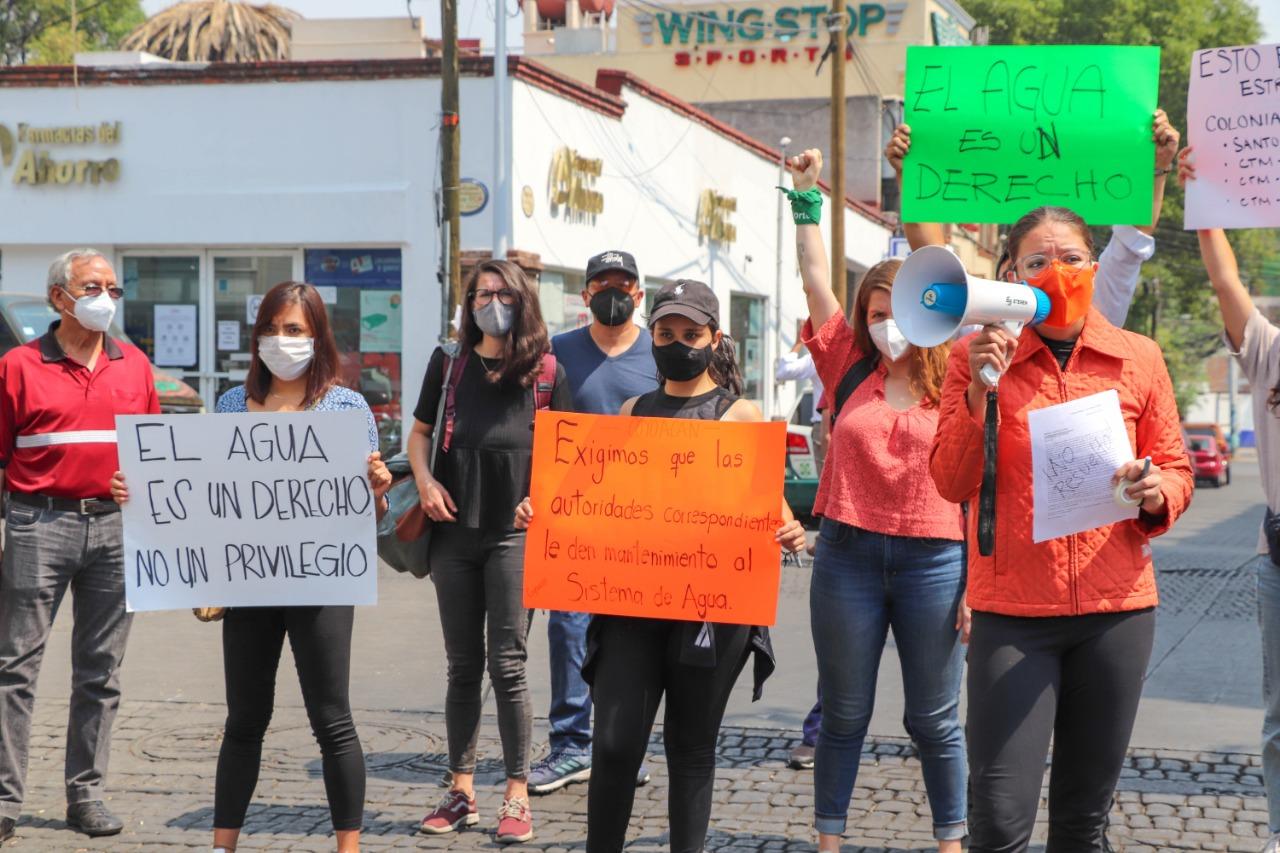 Movimiento Ciudadano hacen alianza con vecinos para pedir agua en Coyoacán