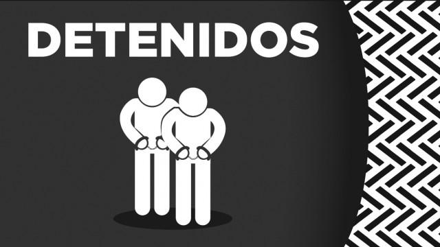 En Iztacalco, oficiales de la SSC detuvieron a siete personas en posesión de aparente droga, armas de fuego largas y dinero aparentemente apócrifo