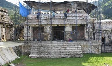 Difunde micrositio las tareas de conservación en El Palacio y los estucos de la Tumba de Pakal, en Palenque
