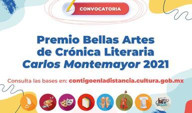 Lanzan convocatoria para el Premio Bellas Artes de Crónica Literaria Carlos Montemayor 2021