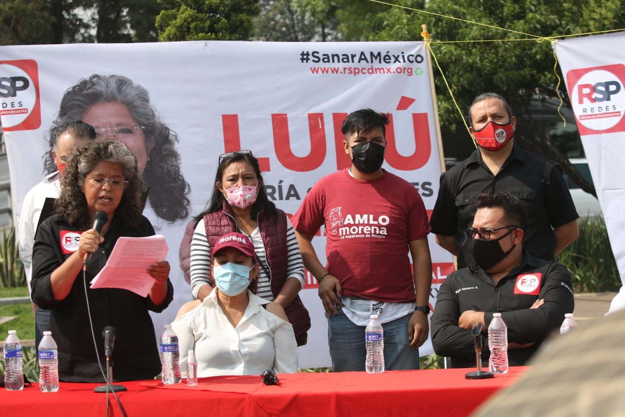 Militantes de Morena interrumpen evento de RSP en Iztapalapa