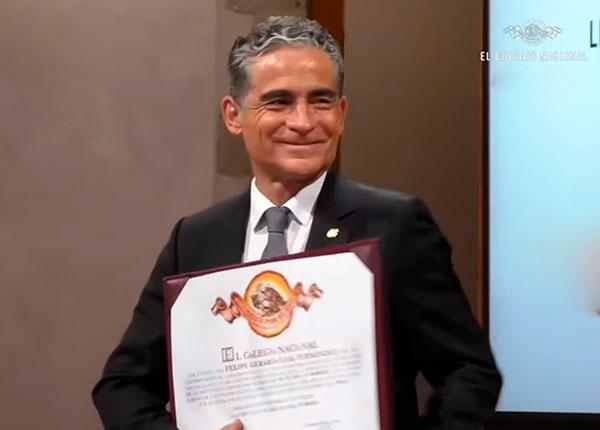 El arquitecto universitario Felipe Leal Fernández ingresó a El Colegio Nacional