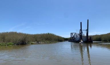 Realiza Conapesca desazolve del Canal de Comunicación del Estero Moroncarit, Huatabampo