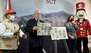 Celebra Lotería Nacional con billete conmemorativo el 130º aniversario de la SCT