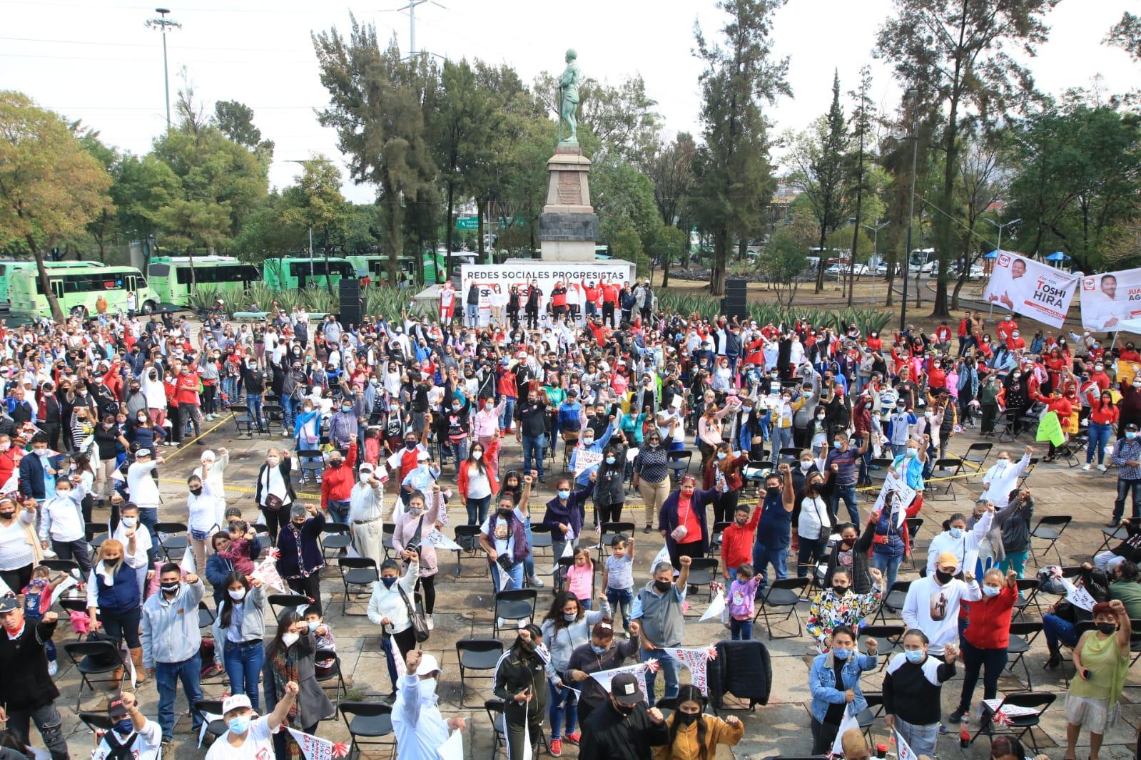 RSP muestra músculo en CDMX, reúne 5 mil militantes en mitin de GAM