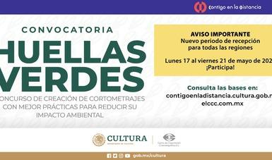 La convocatoria Huellas verdes, de la Secretaría de Cultura, anuncia nuevo periodo de registro