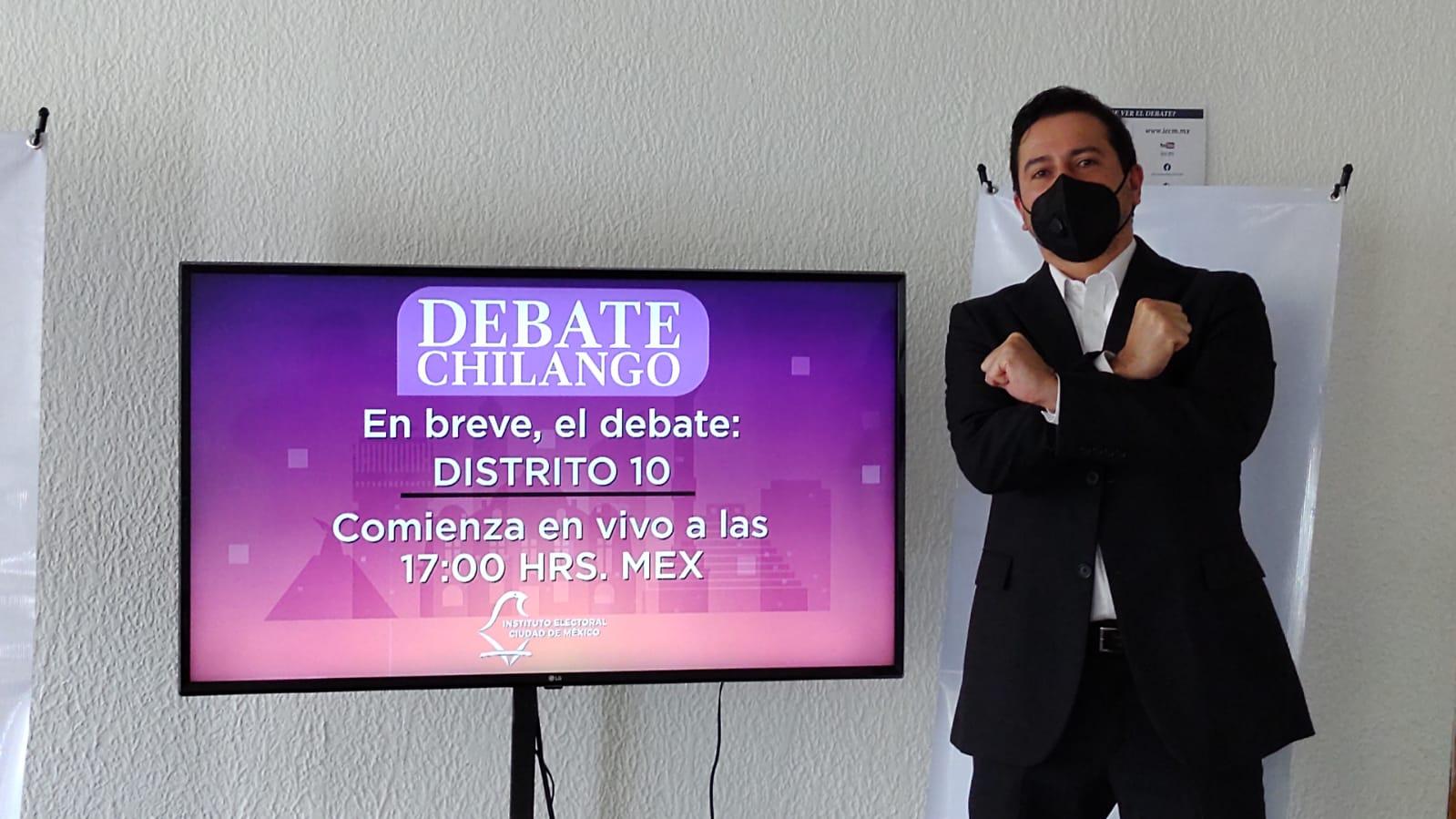 Ricardo Valderrama, aspirante a diputado por RSP asegura haber ganado el debate y llama a contendientes a declinar en su favor