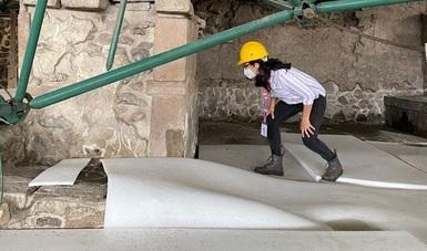 Analizan expertos la estrategia para remover la techumbre colapsada en la Casa de las Águilas