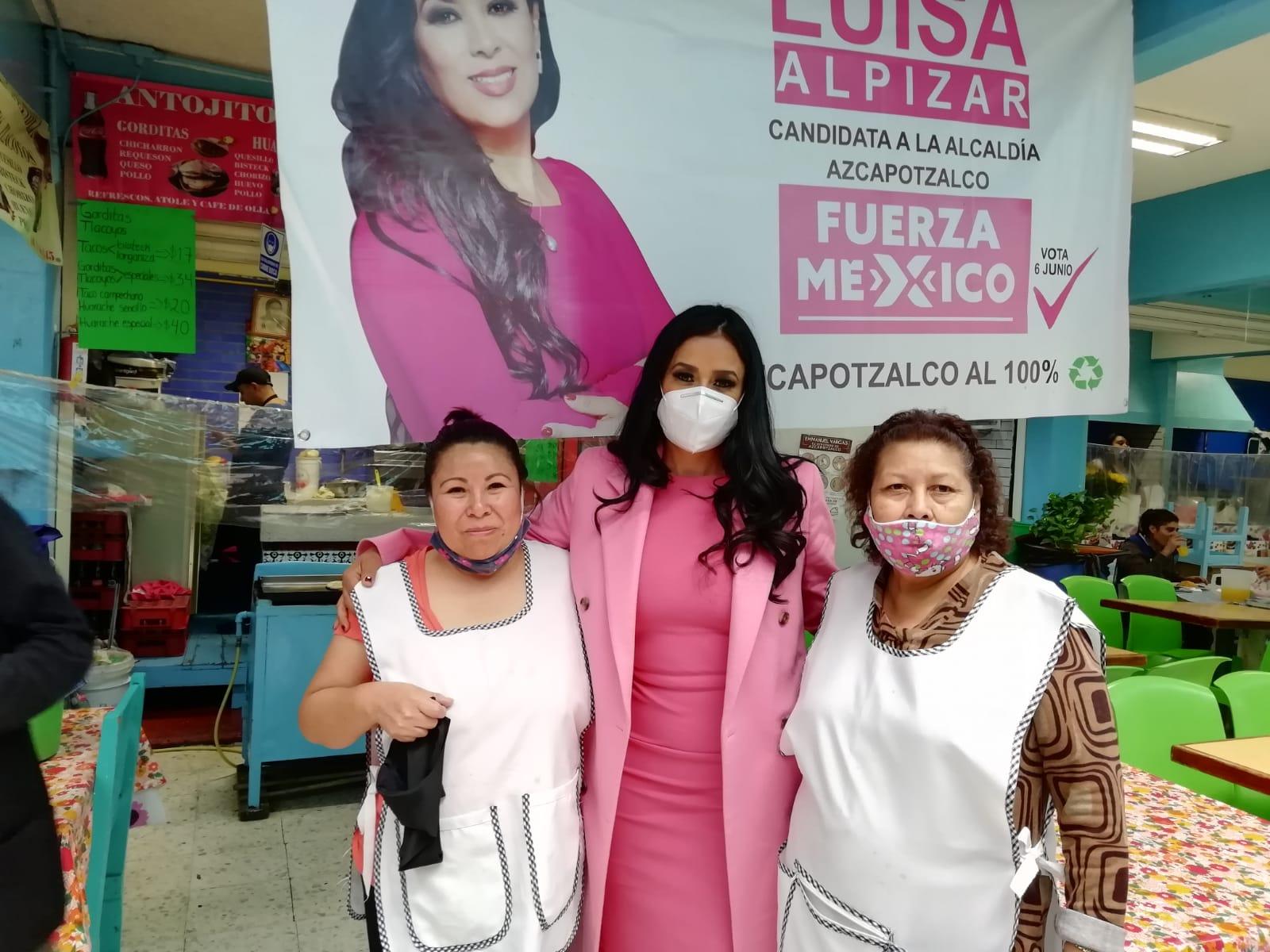 Vecinos y comerciantes de Tlatilco ofrecen su voto a Luisa Alpízar
