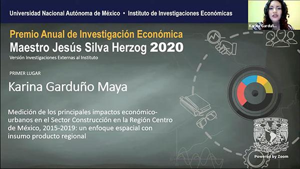 Entregan Premio Anual de Investigación Económica Maestro Jesús Silva Herzog 2020