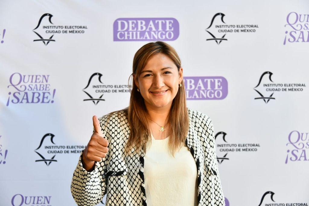 Triunfa Nancy Núnez en el debate entre candidatos del distrito 3 local de Azcapotzalco