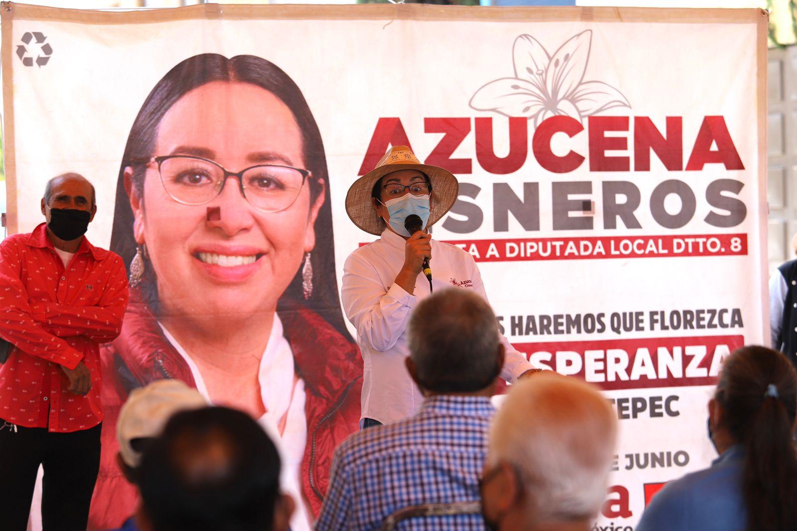 Penas severas a funcionarios corruptos: Azucena Cisneros