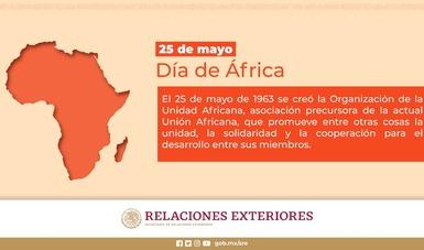 México felicita a pueblos y gobiernos de África por el Día de África 2021
