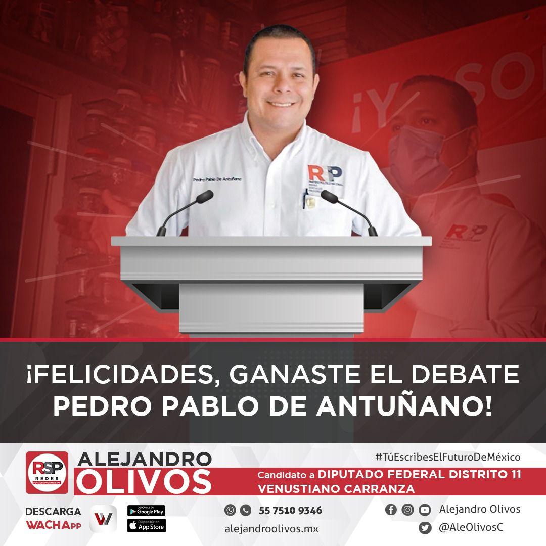 Pablo de Antuñano gana debate por amplio margen y presenta decálogo progresista para reactivar la Ciudad de México