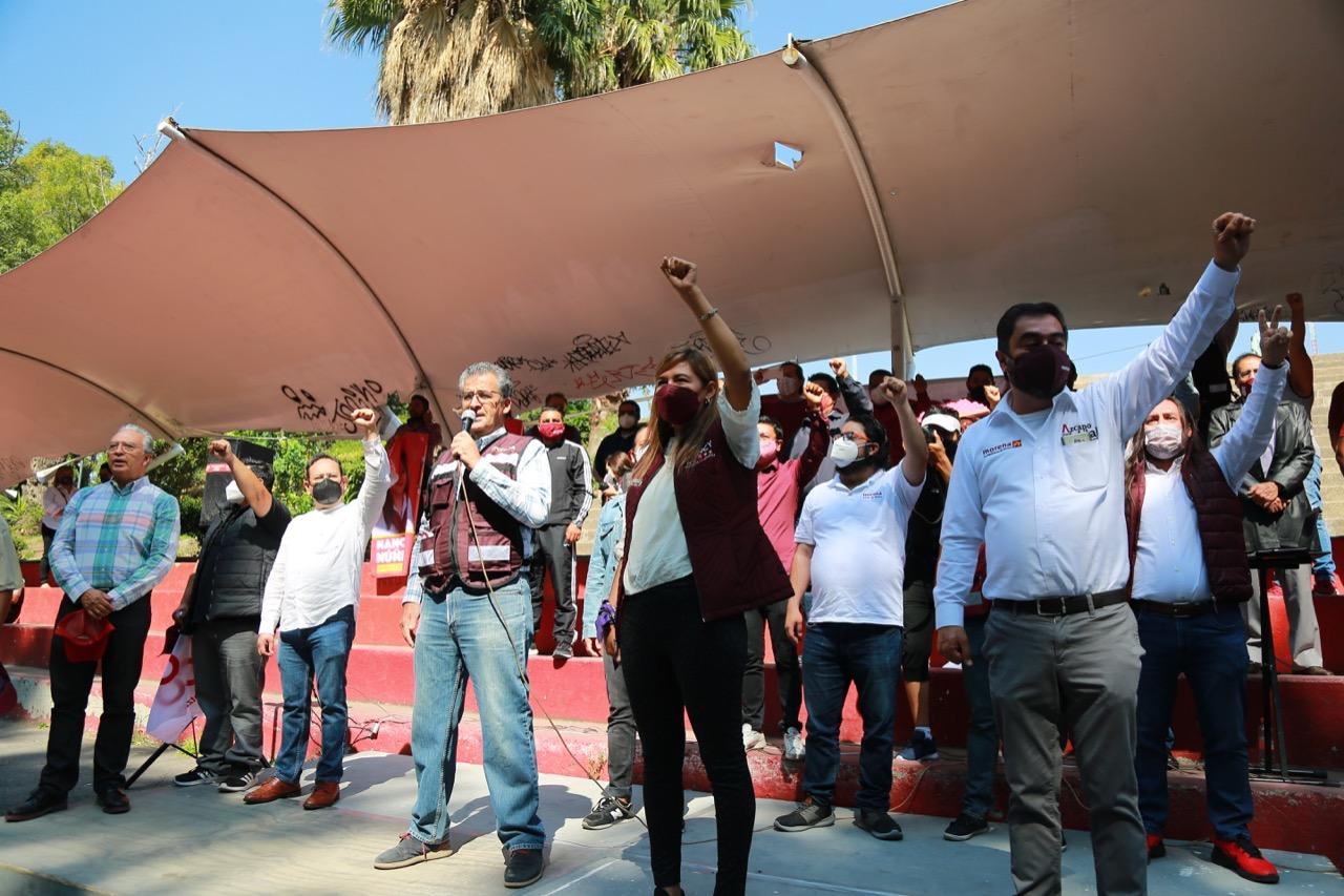 Cierra campaña Nancy Núñez con un llamado a la población para votar por los candidatos de Morena en la jornada electoral del 6 de junio